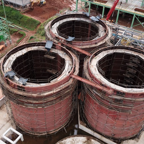 July 23 - Refurbishing leach tanks