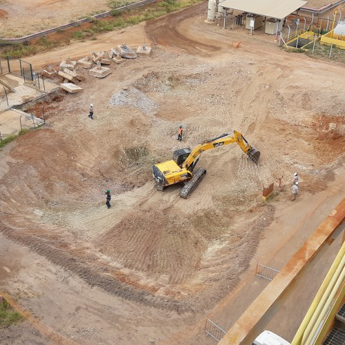 Jan 18 - Ball mill site excavation