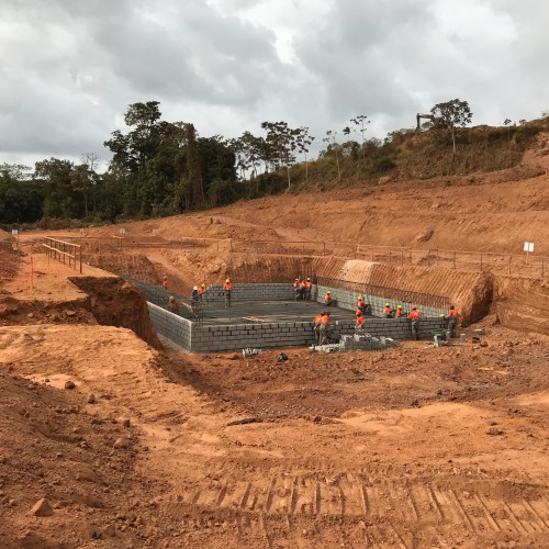 December 2017 - Working on mill foundation