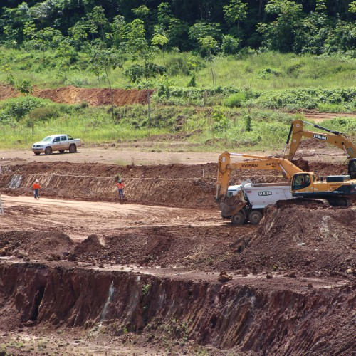 April - Mining waste in Piaba Pit