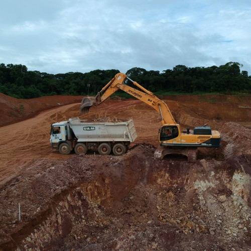 May - Mining contractor moving waste